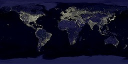 "Gamma-corrected ""Earth's City Lights"""